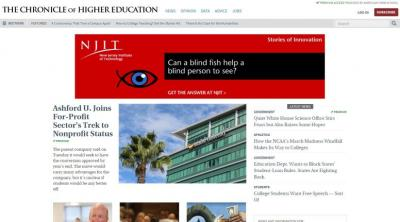 Library subscription to 'The Chronicle of Higher Education' portal